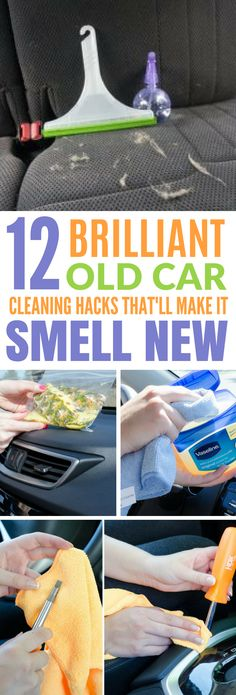 These 12 Car Cleaning Hacks Will Make Your Car Smell Brand New Again! #hacks #lifehacks #car