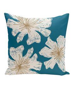 Look at this #zulilyfind! Teal Rattan Throw Pillow by E by Design #zulilyfinds