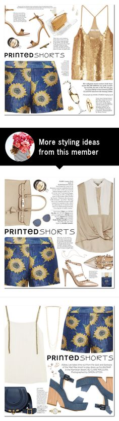 """""""Untitled #369"""" by piccolamarisa on Polyvore featuring Alice + Olivia, TIBI, Charlotte Olympia, Gianvito Rossi, Anja, Hermès, J.W. Anderson, Avenue, Annelise Michelson and printedshorts"""