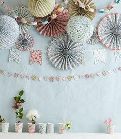 décoration Anniversaire liberty pastel - Déco design chambre bébé enfant, déco anniversaire