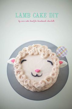 DIY Fluffy Lamb Cake (cake decorating tutorial / recipe) // Handmade Charlotte