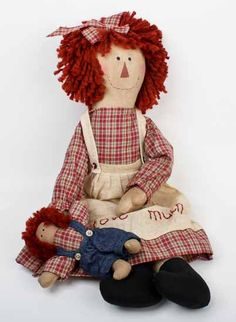 images free for annie dolls   ... Raggedy Annie Doll with Andy Doll - Primitive Dolls - Primitive Decor