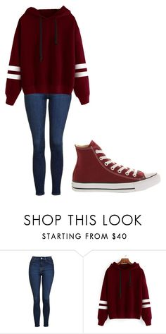 """""""something simpler"""" by thenerdyfairy on Polyvore featuring Topshop and Converse"""
