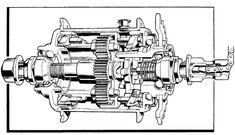 Illustrated cutaway of Sturmey Archer internal gear 3