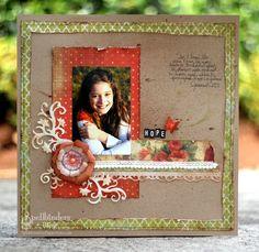 #spellbinders scrapbook page by Julie Overby