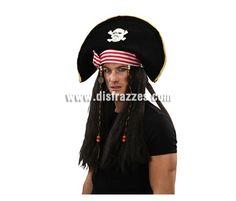 Sombrero con peluca de Pirata