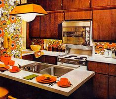 Kitchen Colors of the 50's, 60's and 70's . YES.
