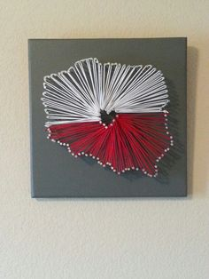 String art made by me!   Outline of Poland and used the string to create the Polish Flag!   Most creative thing I have ever done!