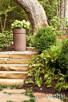 Terrace Landscaping & Hardscaping | Design by Missy Madden & H. Todd Yeager, Bellwether Landscape Architects // Photographed by Emily Followill | Atlanta Homes & Lifestyles