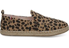 The Deconstructed Alpargata takes our classic style and loosens it up a bit. The exposed seams add a little edge, while the rope sole and leopard print feel playful and warm. Taking iconic TOMS silhouettes and Clare V.'s signature design elements, this collection features a blend of L.A. modernity and Parisian charm.