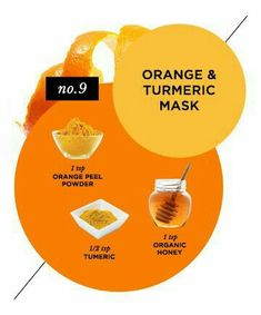 Blemish-Banishing Orange Mask- ngredients: 1 teaspoon orange peel powder teaspoon turmeric 1 teaspoon organic honey Directions: Mix ingredients to create a paste. Brush it on (you can use a makeup brush), and let dry for 10 minutes. Rinse well with water. Homemade Face Masks, Diy Face Mask, Tumeric And Honey, Anti Aging, Honey Facial, Turmeric Face Mask, Prevent Wrinkles, Belleza Natural, Dr Oz