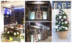 Albero di Natale - Allestimento Natalizio per un Bar - www.laflorealedistefania.it