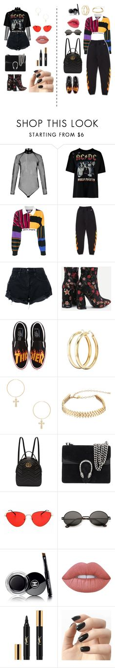 """MooD ;)"" by fridakennedy ❤ liked on Polyvore featuring Palm Angels, Nobody Denim, Charlotte Russe, ERTH, Rebecca Minkoff, Gucci, Laneige, Chanel, Lime Crime and Yves Saint Laurent"
