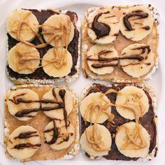 Hazelnut & Peanut Butter Banana Rice Cakes