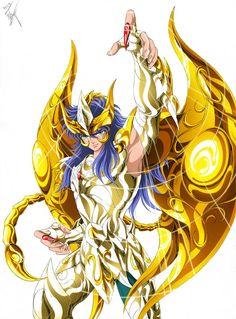 Milo chevalier d'or du Scorpion en Armure Divine (Saint Seiya Soul of Gold ) All Anime, Manga Anime, Power Rangers, Knights Of The Zodiac, Aquarius And Scorpio, Gold Armor, Golden Warriors, Dragon Ball, Girlfriends
