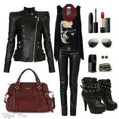 Rocker chic outfit