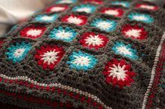 Crochet blanket granny square afghan Grey by ChocolateDogStudio, $175.00