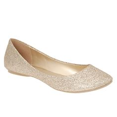 Beautiful little flats, they sparkle the colour of the sunset. How romantic as your toes peek out from under the skirt of your long white dress as you walk towards the love of your life.
