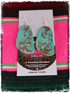 Addy Co Tour - Turquoise Slab Earrings, $80.00 (http://www.addycotour.com/turquoise-slab-earrings/)