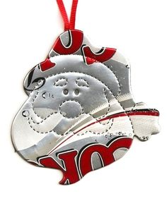 Recycled Soda Pop Can Santa Ornament Hand by RecycledSouvenirs,