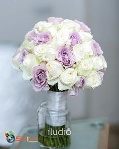 Brooch Bridal Bouquet handle BN Diamante Effect Purple Ribbon Mesh for Cake