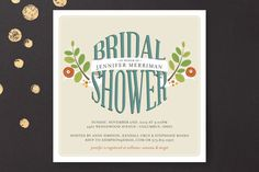 Botanical Banner Bridal Shower Invitations...there's something that makes me think of Fort Collins when I see this