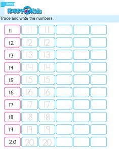 Preschool Number Trace and Write Exercise English Reading, English Writing Skills, Pre Writing, Teaching English, Number Tracing, Number Recognition, Numbers Preschool, Free Preschool, Number Worksheets