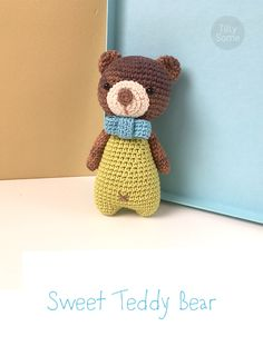 Sweet Teddy Bear Toy will become a perfect gift for your friends and childrens. The pattern is easy to follow and suitable for beginners. It contains detailed text instructions and photos.