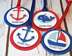 Sailing Birthday Party Favor Tags, Nautical Party (set of 12)