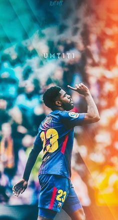 Samuel Umtiti Football Barcelona Art Mundo Futbol in The Samuel Umtiti Wallpapers Iphone - Find your Favorite Wallpapers! France Players, Milan Wallpaper, Fcb Barcelona, Toni Kroos, Football Wallpaper, First Photograph, Liverpool Fc, Football Players, Messi