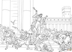 Jesus Cleansing The Temple Coloring Page From Mission Period Category Select 24848 Printable Crafts Of Cartoons Nature Animals Bible And Many