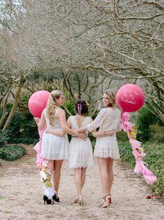 Cute bridesmaids looks #lace #bridesmaids #weddingchicks http://www.weddingchicks.com/2014/04/02/will-you-be-my-bridesmaid-party-3/