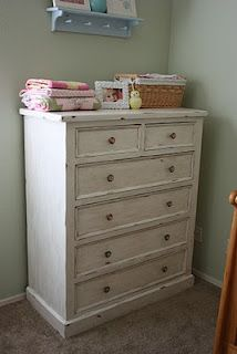 The Pretty Poppy: How to refinish furniture in a vintage style idea, vintag style, dressers, furniture, refinish dresser, diy, refinish furnitur, antiques, vintage style