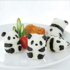 Bolas Panda de Arroz / Panda Rice Ball