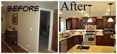 LOVE HOW THIS TURNED OUT Kitchen Remodel, home improvement ideas, kitchen upgrades