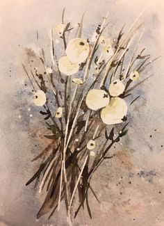 snowberries watercolors