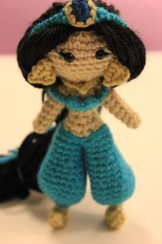 Jasmine Princess Crochet Doll Amigurumi. $75.00, via Etsy.......love it!