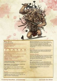 DnD 5e Homebrew — Monsters by Stonestrix