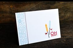 Oh Snap! Card by Jess Witty for Papertrey Ink (May 2013)