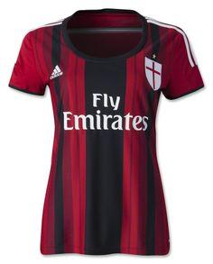 AC Milan 14/15 Women's Home Soccer Jersey