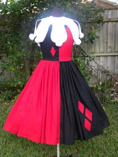 Harley Quinn inspired dress I sewed a while back.