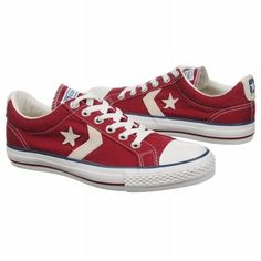 Converse Womens Star Player EV Ox Shoes (Red/White)