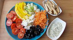 farfurie colorata Cobb Salad, Dairy, Cheese, Eat, Food, Essen, Meals, Yemek, Eten