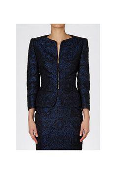 Carla Zampatti - Navy Tweed 'Pick of the Crop' Jacket