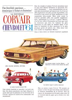 1961 Chevrolet Corvair Coupe Size Advert by AtomicScrapbook on Etsy Vintage Advertisements, Vintage Ads, Chevy, Best Classic Cars, Classic Auto, Car Posters, Car Advertising, Us Cars, Old Ads