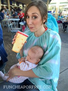 The Bomb Shelter, full-coverage nursing cover. A MUST HAVE at Disneyland! BombShelterBaby.com