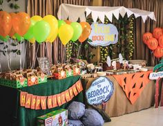 "Flintstones / Birthday ""Tyler Rocks One"" | Catch My Party"