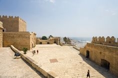 Alcazaba of Almeria, a medieval fortress in the province of Almeria, was used to film scen...
