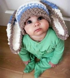 knitted bunny cap