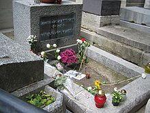 Jim Morrison's grave at Pere LaChaise, Paris